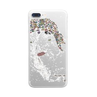 とはつの男性 Clear smartphone cases