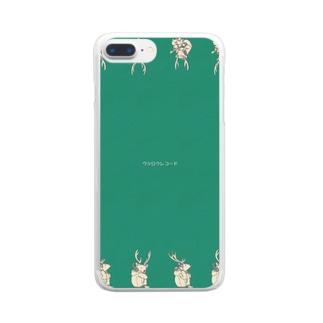 ウシロクレコード1 Clear smartphone cases