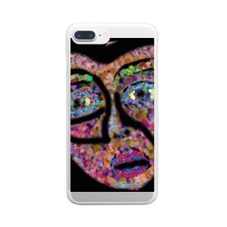 ハート Clear smartphone cases