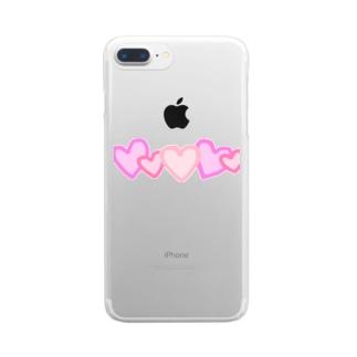 推しを愛でるケース Clear smartphone cases
