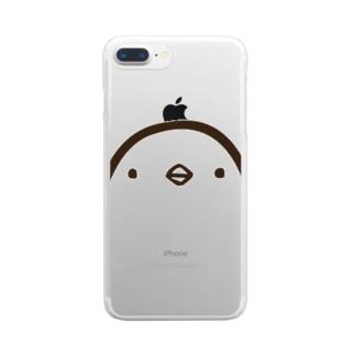 ひよこさん(顔・クリア・iphone8/7以外) クリアスマートフォンケース