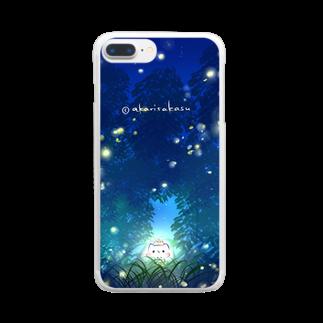 灯さかすの蛍。 Clear smartphone cases