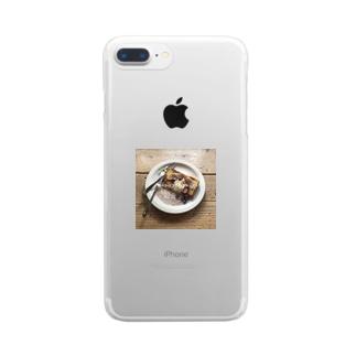 食べかけフレンチトースト クリアスマートフォンケース
