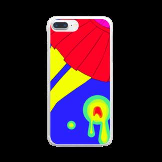 piorのスカート(ビビット) Clear smartphone cases