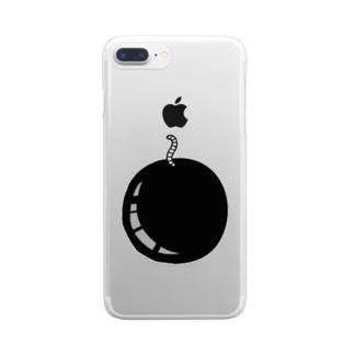ばくだん Clear smartphone cases