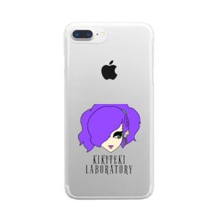 KIKITEKI_LABORATORYのPONITE GAL 紫 × 黄緑 Clear Smartphone Case