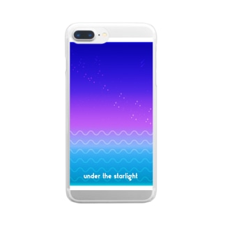under the starlight Clear smartphone cases