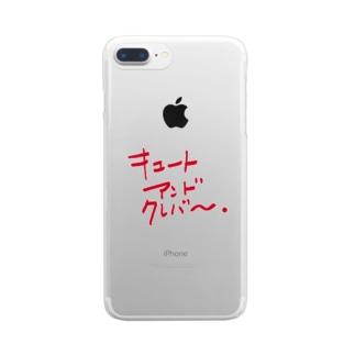 キュートアンドクレバー 赤 Clear smartphone cases