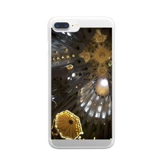 サクラダファミリア Clear smartphone cases