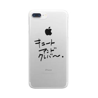 キュートアンドクレバー 黒 Clear smartphone cases