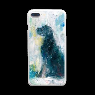 長友心平の黒い犬 Clear smartphone cases
