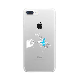 女の子掬い* Clear smartphone cases