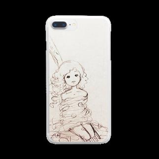 倉田姉妹店のパスタにからまる女の子シリーズ* クリアスマートフォンケース