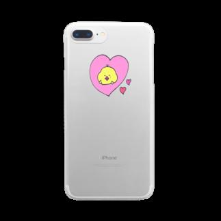 倉田姉妹店のtoririのらぶケース クリアスマートフォンケース
