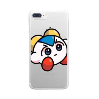 はりきりホトケちゃん Clear smartphone cases
