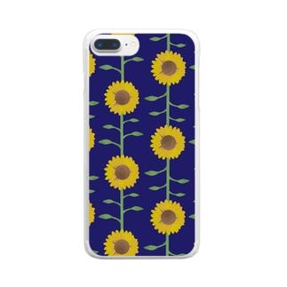 元気な向日葵 Clear smartphone cases