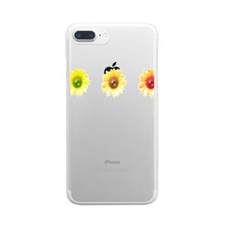 向日葵さんさん Clear smartphone cases