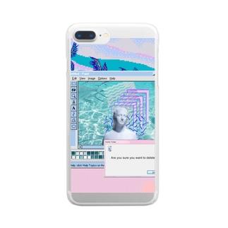 Heisei last summer Clear smartphone cases