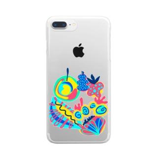 ミステリアスフルーツ Clear smartphone cases