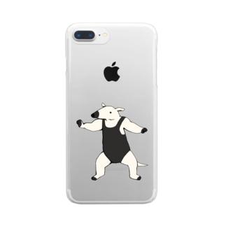 アリクイレスラー Clear smartphone cases