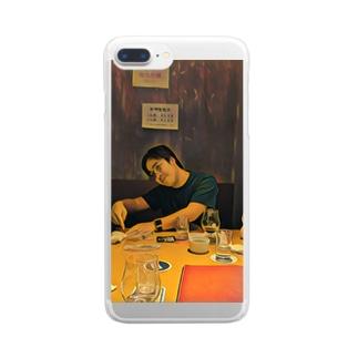 辛子明太子の名画「JavaScriptのthisを教えるpastak」 Clear smartphone cases