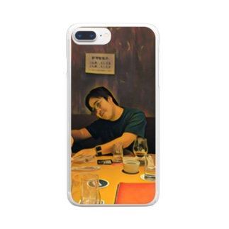 名画「JavaScriptのthisを教えるpastak」 Clear smartphone cases
