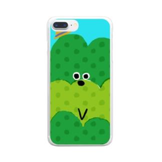 お茶畑くん Clear smartphone cases