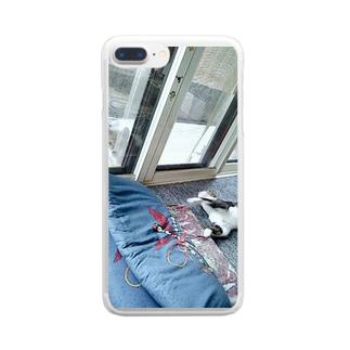 柴とぬこ Clear smartphone cases