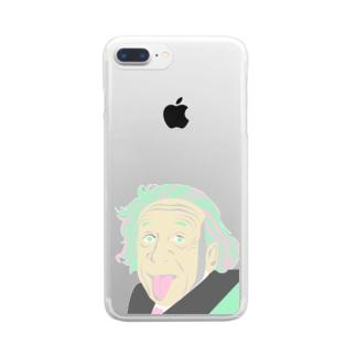 ALBERT EINSTEIN Clear smartphone cases