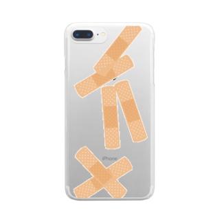 傷だらけのスマホ Clear smartphone cases