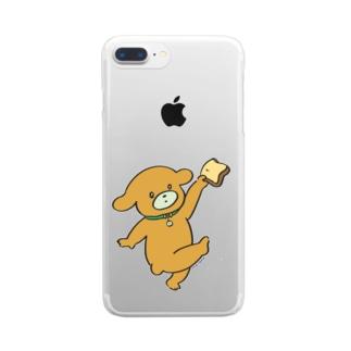 しょくパンいっぬ Clear smartphone cases