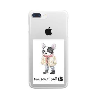 メイソン.F.ブル Clear smartphone cases