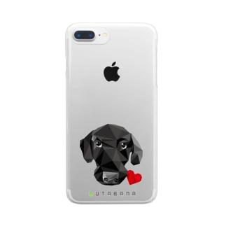 豚鼻な黒ラブ Clear smartphone cases