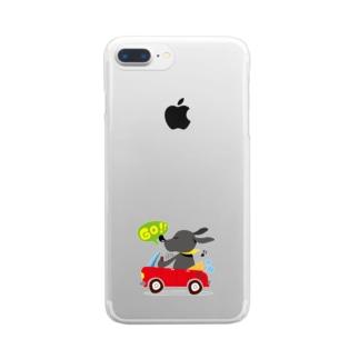黒ラブしんちゃん Clear smartphone cases