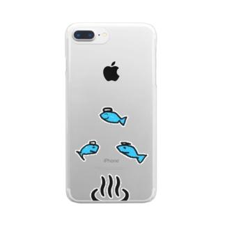 さかながおんせんにきました Clear smartphone cases