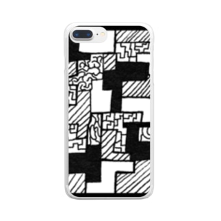 Square  #2222 Clear smartphone cases