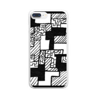 Mamoru SquareのSquare  #2222 Clear smartphone cases