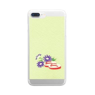 こみち柄 Clear smartphone cases