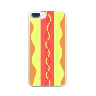 ホットドッグ Clear smartphone cases