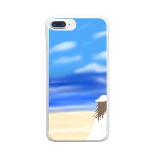 夏のひととき Clear smartphone cases