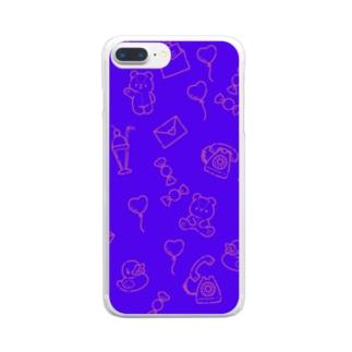 ファンシーパターン Clear smartphone cases