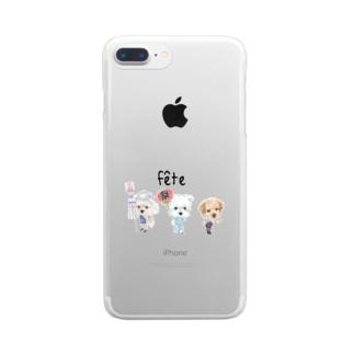 お祭りワンコ Clear smartphone cases