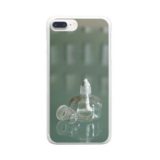 アルコールランプ(タテ) Clear smartphone cases