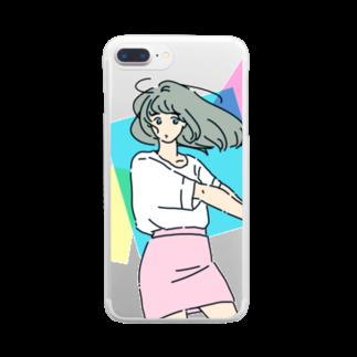 マキノノマのミニスカポップ Clear smartphone cases
