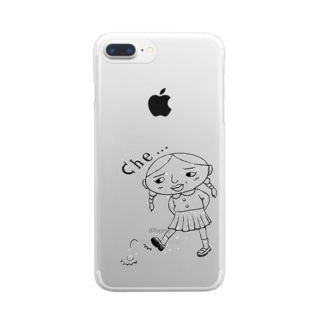 relax_timeのche-ちょっぴり反抗期-石蹴り Clear smartphone cases