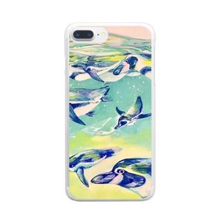 ペンギン・ジェット Clear smartphone cases