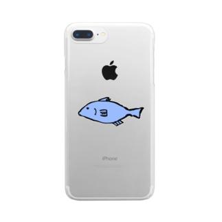 さかな(文字なし) Clear smartphone cases