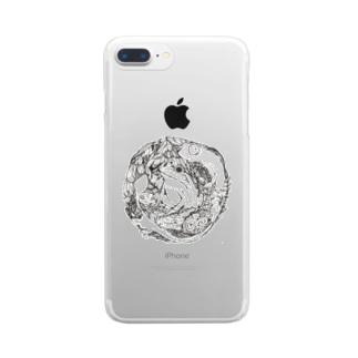 カメレオンとカエル  2018 Clear smartphone cases