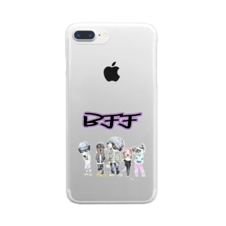 BFF わん! Clear smartphone cases