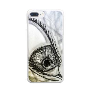 見下ろしてる目 Clear smartphone cases